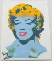 "Tadas Zaicikas ""Marilyn #1"" 11x14 Acrylic on Canvas (PA LOA) at PristineAuction.com"