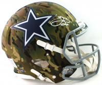 Emmitt Smith Signed Cowboys Full-Size Authentic On-Field Camo Alternate Speed Helmet (Beckett COA) at PristineAuction.com