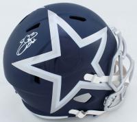 Ezekiel Elliott Signed Cowboys Full-Size AMP Alternate Speed Helmet (Beckett COA) at PristineAuction.com