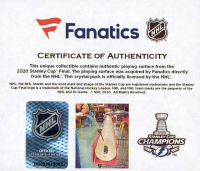 Tampa Bay Lightning 2020 Stanley Cup Champions - Crystal Hockey Puck - Filled with Ice from the 2020 Stanley Cup Final (Fanatics COA) at PristineAuction.com