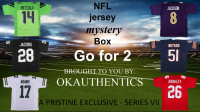 OKAUTHENTICS NFL Jersey Go for 2 Mystery Box Series VII at PristineAuction.com