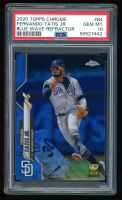 Fernando Tatis Jr. 2020 Topps Chrome Blue Wave Refractors #84 (PSA 10) at PristineAuction.com