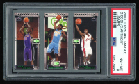 Chris Bosh/ Carmelo Anthony/ LeBron James 2003-04 Topps Rookie Matrix #BAJ 114 RC/ 113 RC/ 111 RC (PSA 8) at PristineAuction.com