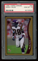 Randy Moss 1998 Topps Chrome #35 RC (PSA 10) at PristineAuction.com