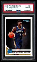 Zion Williamson 2019-20 Donruss #201 RC (PSA 8) at PristineAuction.com