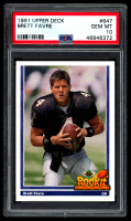 Brett Favre 1991 Upper Deck #647 RC (PSA 10) at PristineAuction.com