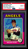 "Nolan Ryan Signed 1975 Topps #500 Inscribed ""11x Strikeout King"" (PSA Encapsulated) at PristineAuction.com"