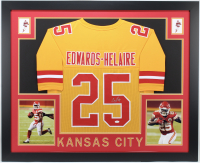 Clyde Edwards-Helaire Signed 35x43 Custom Framed Jersey (JSA COA) at PristineAuction.com