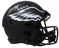 "Miles Sanders Signed Eagles Full-Size Eclipse Alternate Speed Helmet Inscribed ""Fly Eagles Fly"" (JSA COA) at PristineAuction.com"
