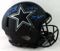 """Roger Staubach & Drew Pearson Signed Cowboys Full-Size Authentic On-Field Eclipse Alternate Speed Helmet Inscribed """"Hail Mary"""" & """"12/28/75"""" (Beckett COA) at PristineAuction.com"""