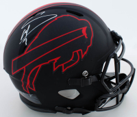 Stefon Diggs Signed Bills Full-Size Eclipse Alternate Authentic On-Field Speed Helmet (Beckett COA) at PristineAuction.com