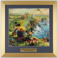 "Thomas Kinkade Walt Disney's ""Mickey & Minnie Mouse"" 16x16 Custom Framed Print Display at PristineAuction.com"