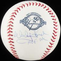 "Whitey Ford Signed OML Yankees Logo Baseball Inscribed ""HOF '74"" (JSA COA) at PristineAuction.com"