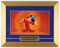 "1988 Mickey Mouse ""The Sorcerer's Apprentice"" 11x14 Custom Framed Animation Cel Display at PristineAuction.com"