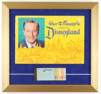1962 Disneyland 15x16 Custom Framed Souvenir Guide & Vintage Ticket Book Display at PristineAuction.com