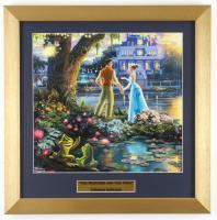 "Thomas Kinkade Walt Disney's ""The Princess and the Frog"" 16x16 Custom Framed Print Display at PristineAuction.com"