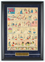 "1935 Original Disney ""Mickey Mouse"" Comic Strip 14.5x20 Custom Framed Display at PristineAuction.com"