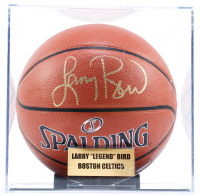 Larry Bird Signed Basketball with Display Case (PSA COA) at PristineAuction.com