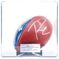 Russell Wilson Signed Seahawks Logo NFL Football With Display Case (PSA COA & Wilson Hologram) at PristineAuction.com