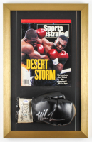 Mike Tyson Signed 14x22 Custom Framed Boxing Glove Display (PSA COA) at PristineAuction.com