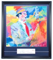 "LeRoy Neiman Signed ""Frank Sinatra"" 21x23.5 Custom Framed Cut Display (PSA COA) at PristineAuction.com"