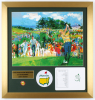 "Leroy Neiman ""Jack Nicklaus & Nick Faldo at the Masters"" 19x20 Custom Frame Print Display with Official Score Card & Masters Pin at PristineAuction.com"