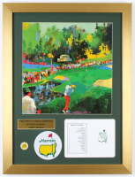 "Leroy Neiman ""The 16th At Augusta National"" 16x21 Custom Framed Print Display With Masters Tournament Pin & Official Scorecard at PristineAuction.com"