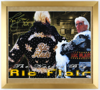 "Ric Flair Signed 20x22 Custom Framed Photo Display Inscribed ""16x"" (PSA COA) at PristineAuction.com"