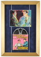 "Leroy Neiman ""Abbott & Costello"" 13x18 Custom Framed Print Display with Vintage 8mm Film Reel at PristineAuction.com"