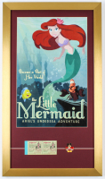 """Walt Disney World """"The Little Mermaid: Ariels Undersea Adventure Ride"""" 15x26 Custom Framed Print Display with Vintage Pin & Ticket Booklet at PristineAuction.com"""