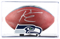"Russell Wilson Signed NFL ""The Duke"" Seahawks 2015 Record Breaking Season Logo Football with Display Case (PSA COA & Wilson Hologram) at PristineAuction.com"