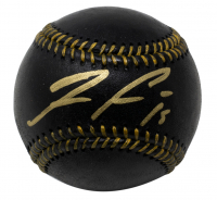 Ronald Acuna Jr. Signed OML Black Leather Baseball (JSA COA) at PristineAuction.com