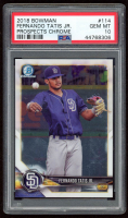Fernando Tatis Jr. 2018 Bowman Chrome Prospects #BCP114 (PSA 10) at PristineAuction.com