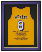 Kobe Bryant Signed Lakers 32x42x2 Custom Framed Jersey Display (Beckett LOA) at PristineAuction.com