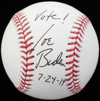 "Joe Biden Signed OML Baseball Inscribed ""Vote!"" & ""7-24-19"" (JSA ALOA) at PristineAuction.com"