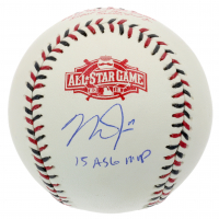 "Mike Trout Signed 2015 All-Star Game Baseball Inscribed ""15 ASG MVP"" (MLB Hologram) at PristineAuction.com"