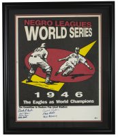 1946 World Series 32x42x2 Custom Framed Poster Signed By (8) with Michael Jordan, Willie Mays, Connie Johnson, Max Manning (Beckett Hologram) at PristineAuction.com
