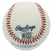 "Mike Trout Signed Angels 50th Anniversary Baseball Inscribed ""#27 MLB Debut 7-8-11"" (MLB Hologram) at PristineAuction.com"