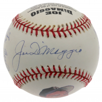 Joe DiMaggio OL LE Baseball Signed by (4) with Joe DiMaggio, Yogi Berra, Whitey Ford & Phil Rizzuto (JSA LOA) at PristineAuction.com