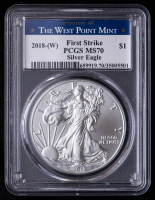 2018(W) American Silver Eagle $1 One-Dollar Coin - First Strike, Struck at West Point Mint (PCGS MS70) at PristineAuction.com