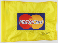 "Arnold Palmer Signed 13""x18"" Mastercard Golf Flag (Beckett LOA) at PristineAuction.com"