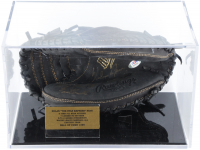 """Nolan Ryan Signed Rawlings Renegade Baseball Catchers Mitt Inscribed """"100.7 M.P.H. Fastball"""" with Display Case (PSA Hologram) at PristineAuction.com"""