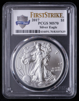 2017 American Silver Eagle $1 One-Dollar Coin - First Strike (PCGS MS70) at PristineAuction.com