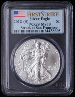 2012(S) American Silver Eagle $1 One-Dollar Coin - First Strike, Struck at San Francisco Mint (PCGS MS70) at PristineAuction.com