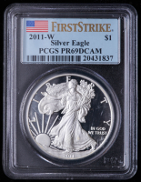 2011-W American Silver Eagle $1 One-Dollar Coin - First Strike (PCGS PR69 Deep Cameo) at PristineAuction.com