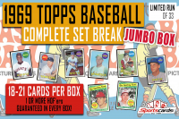 1969 Topps Baseball Complete Set Break JUMBO BOX – 18 to 21 Cards Per Box! at PristineAuction.com