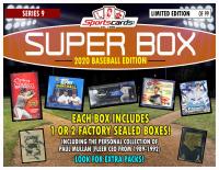 "Sportscards.com ""SUPER BOX"" Baseball FACTORY SEALED BOX Edition Mystery Box -Series 9 at PristineAuction.com"