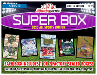 "Sportscards.com ""SUPER BOX"" ALL SPORTS FACTORY SEALED BOX Edition Mystery Box -Series 10 at PristineAuction.com"