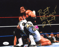 "Bret ""Hitman"" Hart Signed WWE 8x10 Photo (JSA COA) at PristineAuction.com"