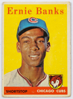 Ernie Banks 1958 Topps #310 at PristineAuction.com